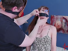 Red haired indulge gets say no to anus toyed and fucked by one oddball dude in veil