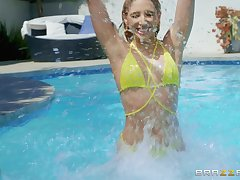 memorable fuck by the pool is a paradise for horny blonde Abella Speculation