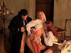 Medieval maid, Carla Cox had a threesome the other day